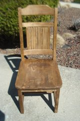 VINTAGE TEACHER'S DESK CHAIR - SOLID WOOD in Naperville, Illinois