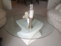 Glass topped coffee table in Naperville, Illinois