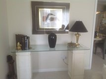Glass topped Sofa table in Naperville, Illinois