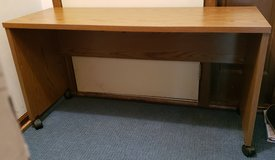 Desk 18W x 49.5L x 26H with Casters - Excellent Condition in Naperville, Illinois