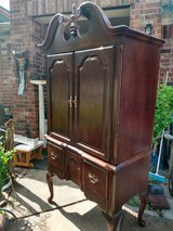 Chipndale cabinet, all wood. Nice in Spring, Texas