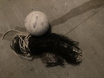Regulation volleyball net with ball in Lancaster, Pennsylvania