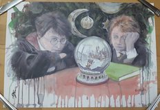 Signed Harry Potter Watercolor Print in Baumholder, GE