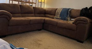 Brown L-Shaped Couch in Rolla, Missouri