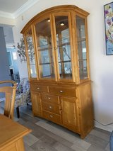 Ashley DIning Table and 6 Chairs - China Cabinet/Buffet in Quantico, Virginia