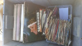 45s vintage record collection in 29 Palms, California