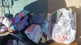Clothes lots $1 a bag in 29 Palms, California