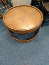 Round Oak Side or Coffee Table in Naperville, Illinois