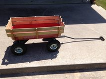 Northern Tool red wagon with wood slats in Spring, Texas