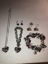 6 Pieces of Patriotic Red/White/Blue Jewelry in Naperville, Illinois