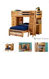 Solid Wooden Bunk Bed in Naperville, Illinois