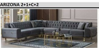 United Furniture - Arizona Sectional in Anthracite or Black Velvet including delivery in Grafenwoehr, GE