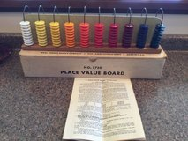 Vintage IDEAL NO. 7750 Place Value Board with Box and Manual (T=48) in Fort Campbell, Kentucky