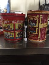 Barnum animal crackers tins in Fort Campbell, Kentucky