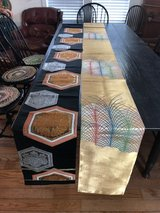 Two authentic Japanese Obi/table runners in Camp Lejeune, North Carolina