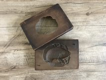 Vintage Japanese wooden sugar cake mold, Tai (Sea Bream) in Honolulu, Hawaii