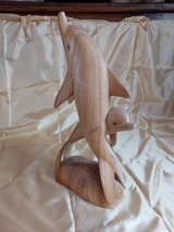 solid wood dolphin ornament- 40cm tall in Lakenheath, UK