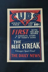 August 12, 1930 Chicago Cubs VS Brooklyn Dodgers Score Card CUBS WIN!!! in Schaumburg, Illinois