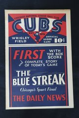 June 20, 1930 Chicago Cubs VS Boston Braves Score Card CUBS WIN!!! in Schaumburg, Illinois