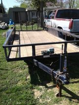 16 ft dual axle 7000 lbs TRAILER w FOLDING RAMP blue color in Fort Campbell, Kentucky