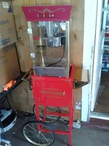 Popcorn and Concession Cart, Makes 32 Cups, 53 in Tall, Red, (used) in Fort Campbell, Kentucky