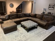 Possible reupholstery project... Pottery Barn Leather sectional couch in Naperville, Illinois