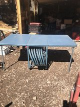 Table with metal chairs in Alamogordo, New Mexico