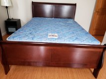 Queen size Sleigh Bed (Ashley) in Okinawa, Japan