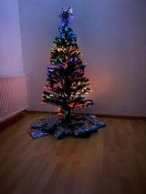 Christmas Tree w/ pre-attached lights & snow flake in Ramstein, Germany
