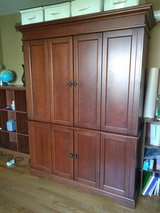 Solid Wood Office/Craft/? Armoire in Naperville, Illinois