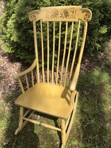 Hitchcock Style Rocking Chair Reduced in Westmont, Illinois