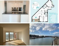 NEW 4 room penthouse apartment 10 min from Clay, riverside in Mainz, Zollhafen from 1st of August in Wiesbaden, GE