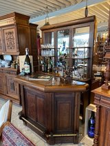 solid wood 2 piece bar from the 1920's in Wiesbaden, GE