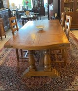 solid oak monastery table with 2 extensions in Ansbach, Germany