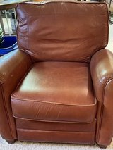 Leather reclining club chair in Naperville, Illinois