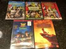 5 Kids DVDs - 3 New & Sealed - Shrek, Lion Guard, Toy Story of Terror, Shrek The Third, Shrek Fo... in Naperville, Illinois