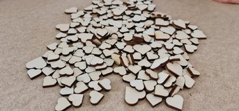 Hearts for crafting, wood (4mm thick) in Baumholder, GE
