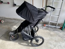Joovy Zoom 360 ultralight black jogging stroller in Naperville, Illinois