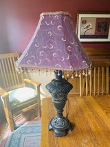Lamp with shade and tassels in Naperville, Illinois