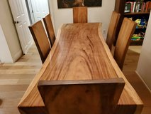 live edge poplar dining table and chairs in Melbourne, Florida