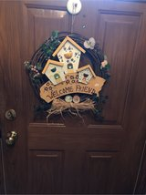 Spring wreath in Glendale Heights, Illinois