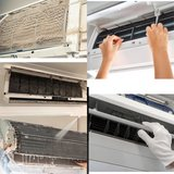 Air conditioning (AC) cleaning in Okinawa, Japan