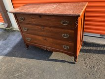 Antique Mahogany Marble  Top Dresser in Cherry Point, North Carolina