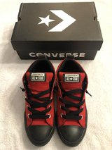 Boys Converse Sneakers (Red and Black) in Lawton, Oklahoma
