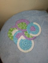 4.5-inch hand crocheted cotton coasters ... New in Fort Hood, Texas