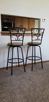 2 Swivel Counter/Bar Height Bar Stools in Algonquin, Illinois