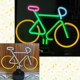 Neon Bicycle Lamp Light in Ramstein, Germany