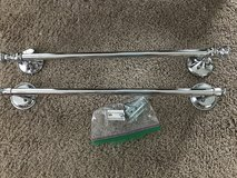 2 Chrome Towel Bars 18in in Chicago, Illinois