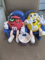 Big Red & Yellow M&M Movie Container with box of M&M's in Denton, Texas