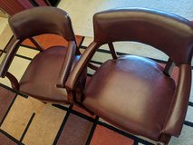 Faux leather chairs & Entertainment shelf in Fairfax, Virginia